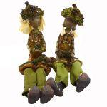 Copil ghinda cu picioare mobile (set 2 buc.) maro
