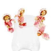 Fete-ciuperca decoratii agatatoare (set 4 buc.) rosii