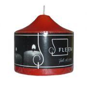Lumanare cilindrica Φ8x8 cm rosie