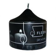 Lumanare cilindrica Φ8x8 cm negru