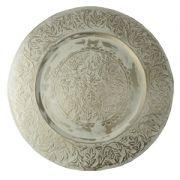 Aplica decorativa cu frunze Φ58 cm alb antic