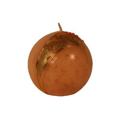 Lumanare sferica Caprice Φ10 cm piersica