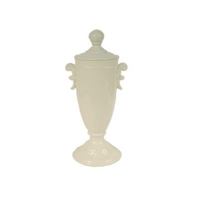 Recipient oval cu manere Vivre 21x45 cm alb
