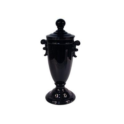 Recipient oval cu manere Vivre 21x45 cm negru