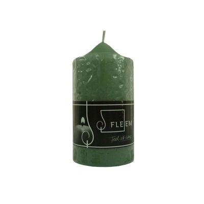 Lumanare cilindrica Φ6x12 cm verde antic