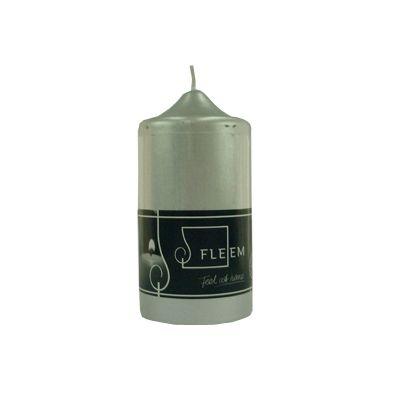 Lumanare cilindrica Φ6x12 cm argintiu metalic