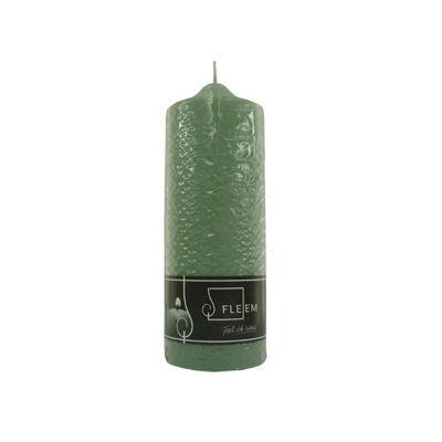 Lumanare cilindrica Φ7x20 cm verde antic