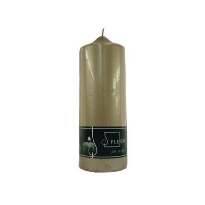 Lumanare cilindrica Φ7x20 cm argintiu inchis metalic