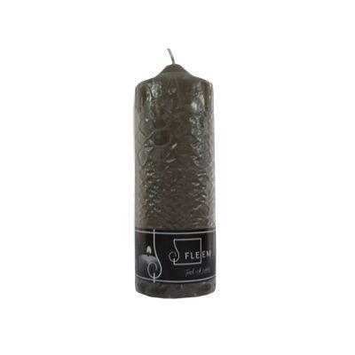 Lumanare cilindrica 7x20 cm gri inchis