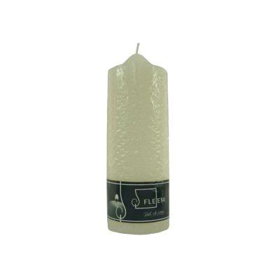 Lumanare cilindrica 7x20 cm alb antic