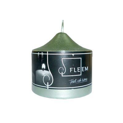Lumanare cilindrica Φ8x8 cm verde metalic