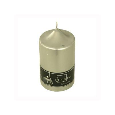 Lumanare cilindrica Φ8x15 cm argintiu metalic