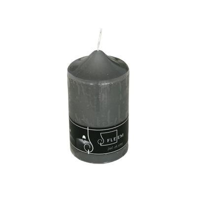 Lumanare cilindrica Φ8x15 cm gri inchis