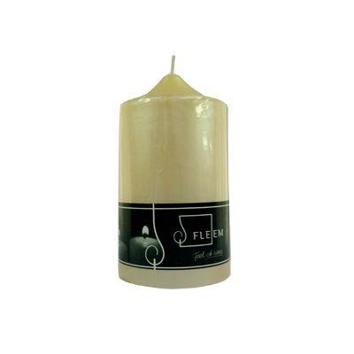 Lumanare cilindrica Φ8x15 cm fildes perlat