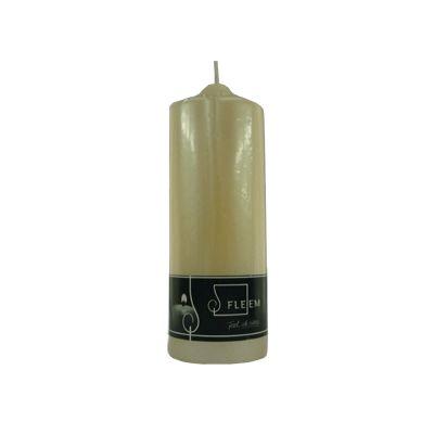 Lumanare cilindrica Φ7x20 cm fildes perlat