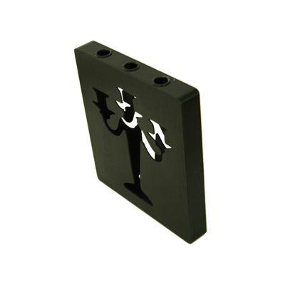 Suport lumanari 3 cupe 30x27 cm negru