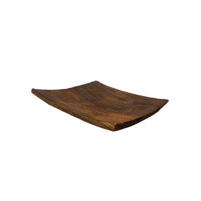 Suport patrat lemn maro pentru accesorii decor handmade