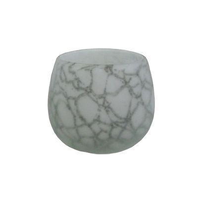 Vaza cu aspect de marmura Φ11,5x10 cm
