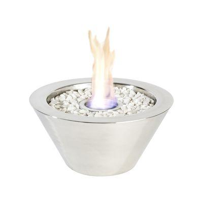 Flacara decorativa - Bol inox lucios