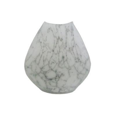 Vaza cu aspect de marmura alba Ø18x18 cm