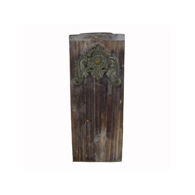 Suport lumanare din lemn 7,5x17,3 cm maro