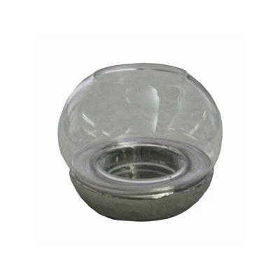 Felinar sferic cu suport metalizat 5x10x11,5 cm argintiu