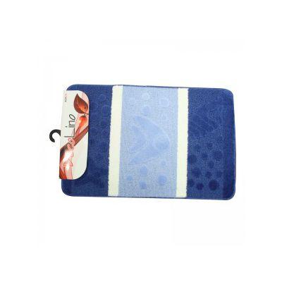 Set covorase baie 55/85 3 piese - albastru/alb
